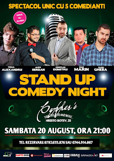 Stand-Up Comedy Sambata Bucuresti 20 August