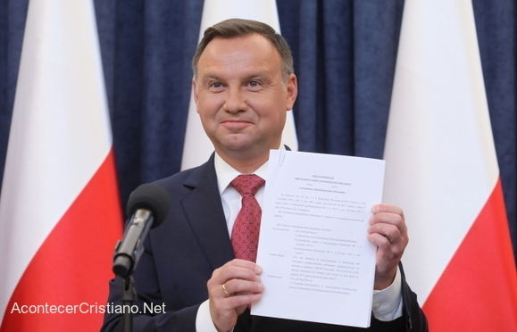 Presidente de Polonia Andrzej Duda
