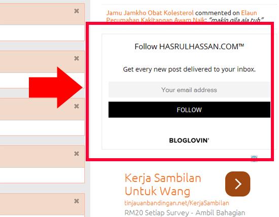 Widget Bloglovin Mudahkan Follower Ketahui Entri Terkini