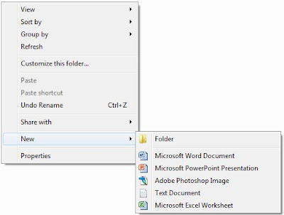 New Context Menu Windows