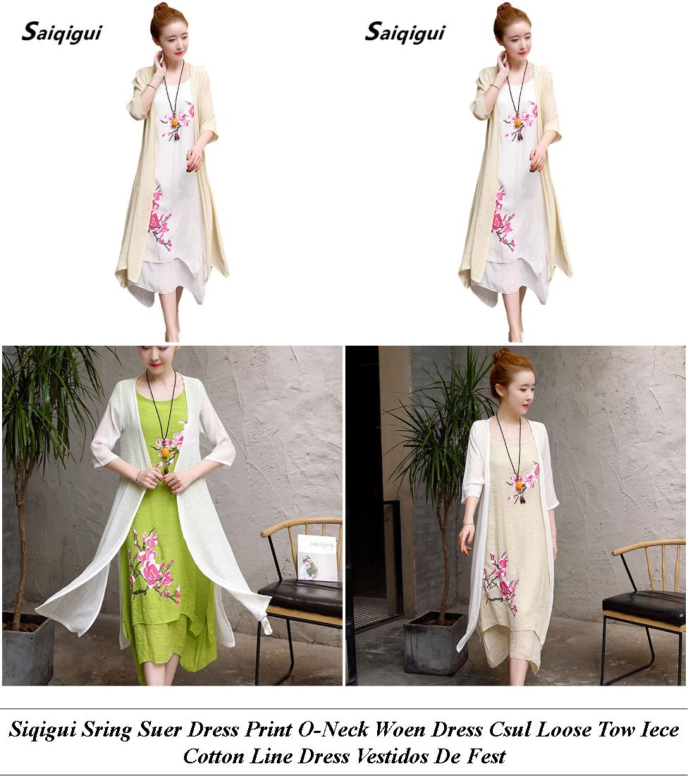 Silk Dresses Long - Summer Clearance Sales Womens Clothes - Canada Plus Size