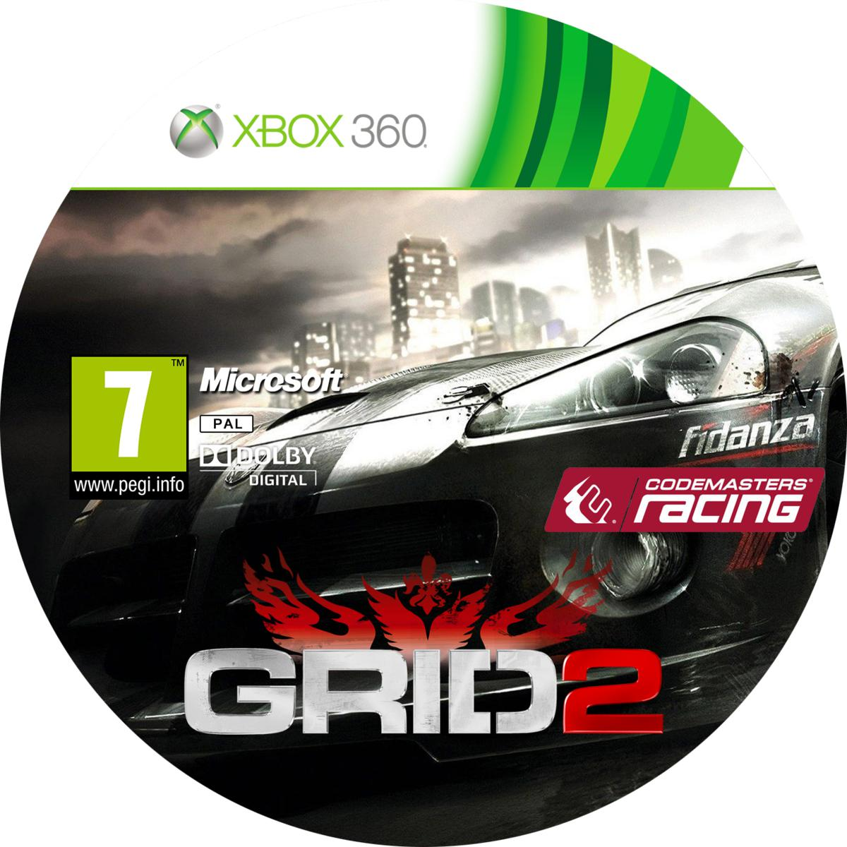Label GRID 2 Xbox 360