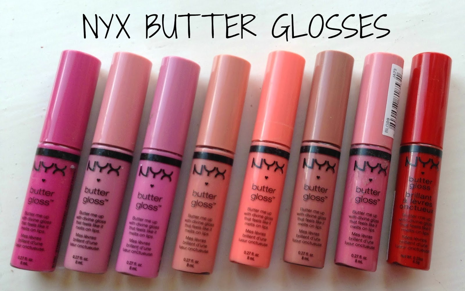 Nyx Butter Glosses Collection Review And Swatches