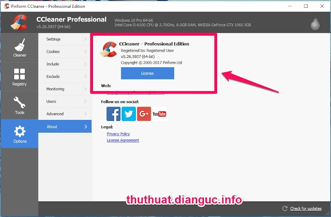 Download CCleaner v5.26.5937 Full Key miễn phí mới nhất