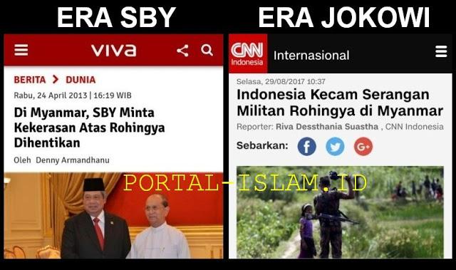 Di Myanmar, SBY Minta Kekerasan Atas Rohingya Dihentikan; Pemerintah Jokowi Malah Kecam Militan Rohingya