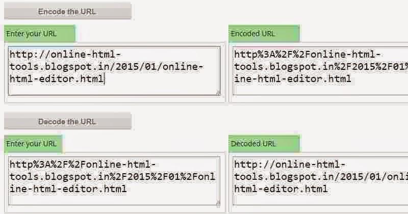 URL encoder and decoder online | HTML Tools