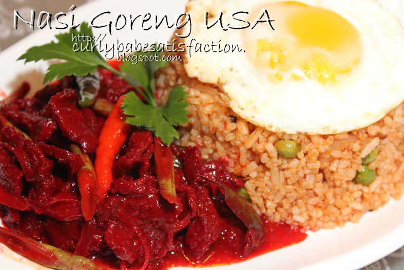Curlybabe S Satisfaction Nasi Goreng Usa Daging Masak