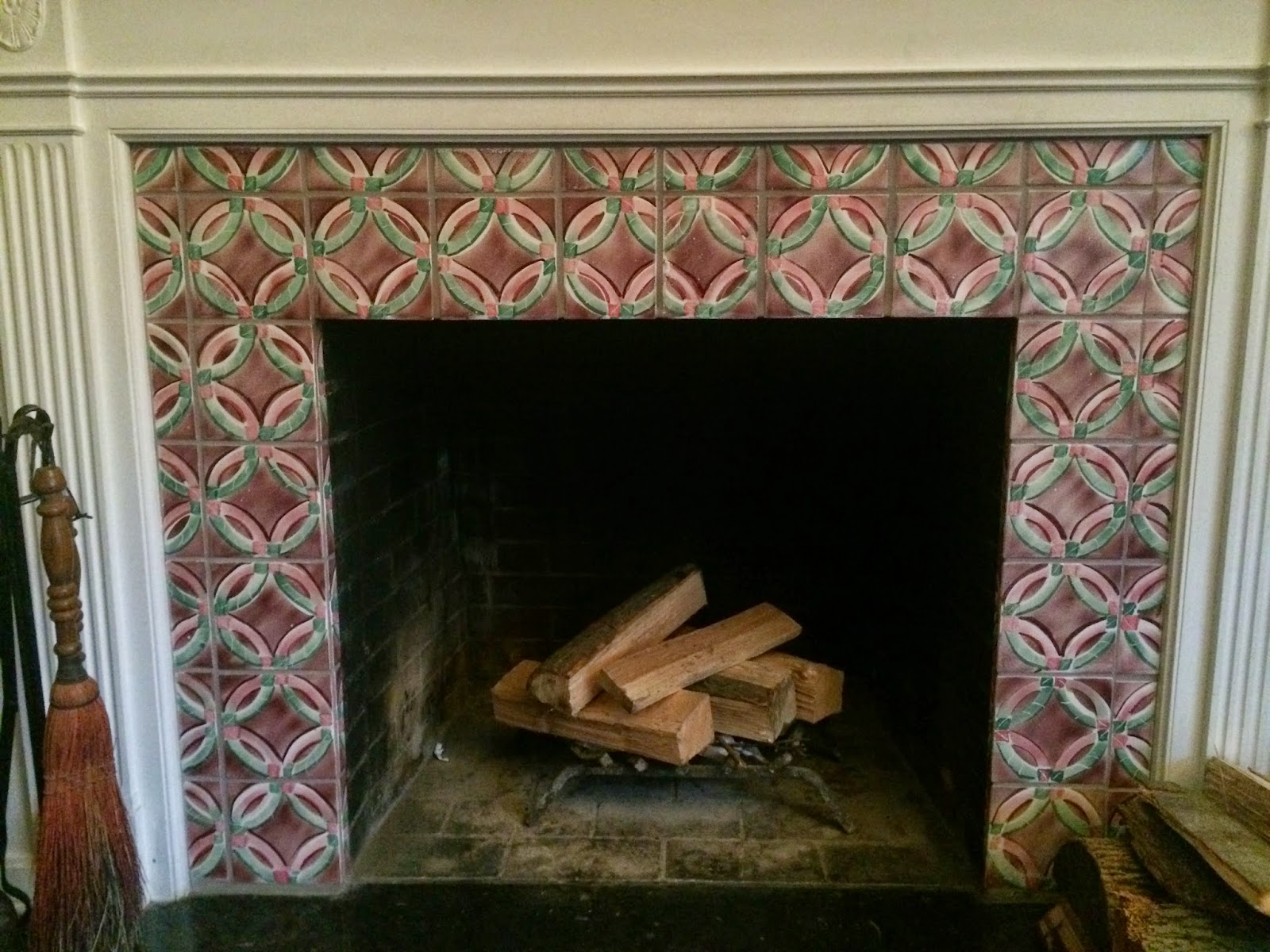 This Post Features Ceramic Tile For A Fireplace Surround Created By Me Using The Pattern Found In An Amish Quilt Design Fits Perfectly With