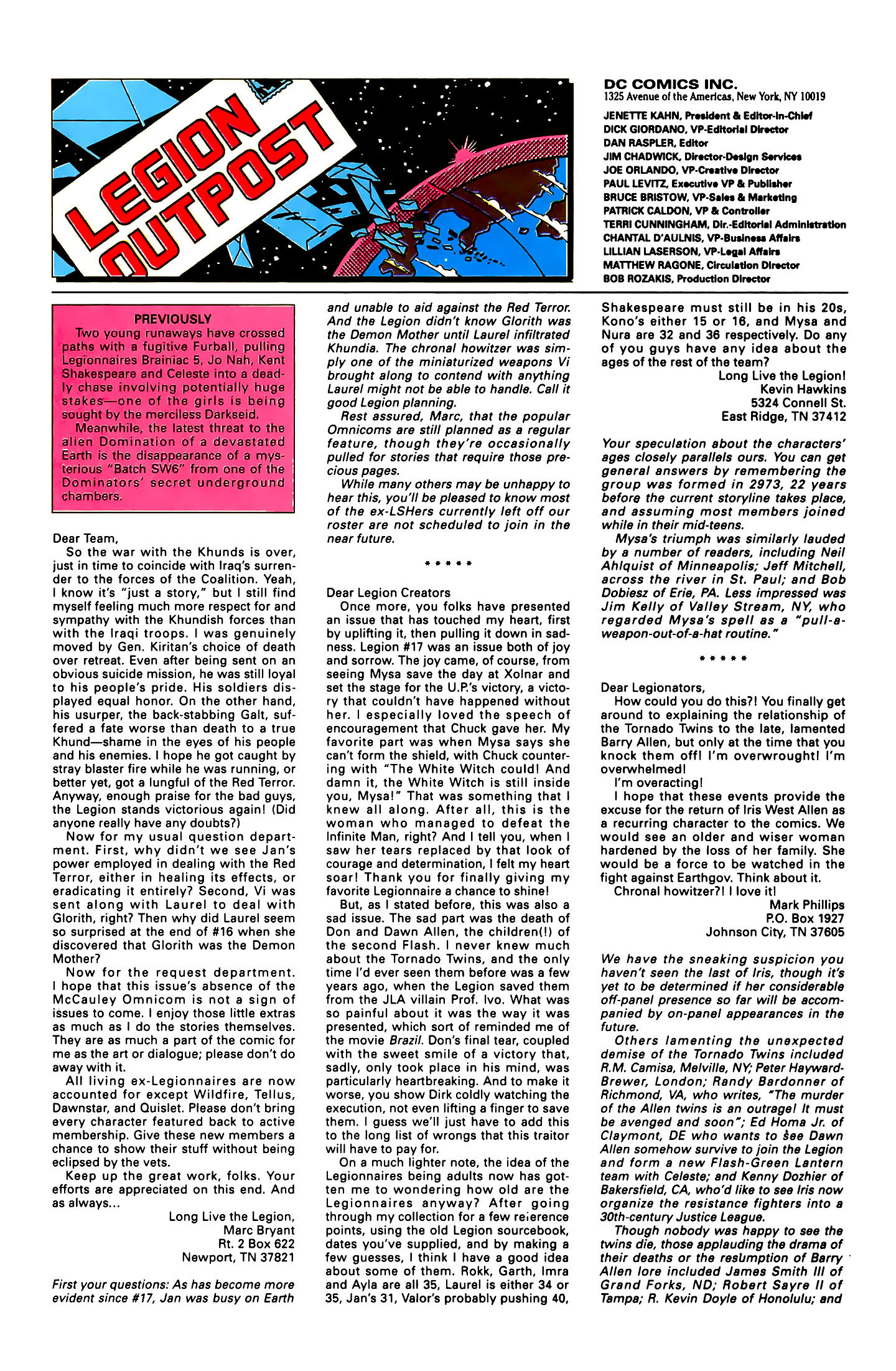 Legion of Super-Heroes (1989) 22 Page 26
