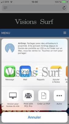 icône de séléction iOS
