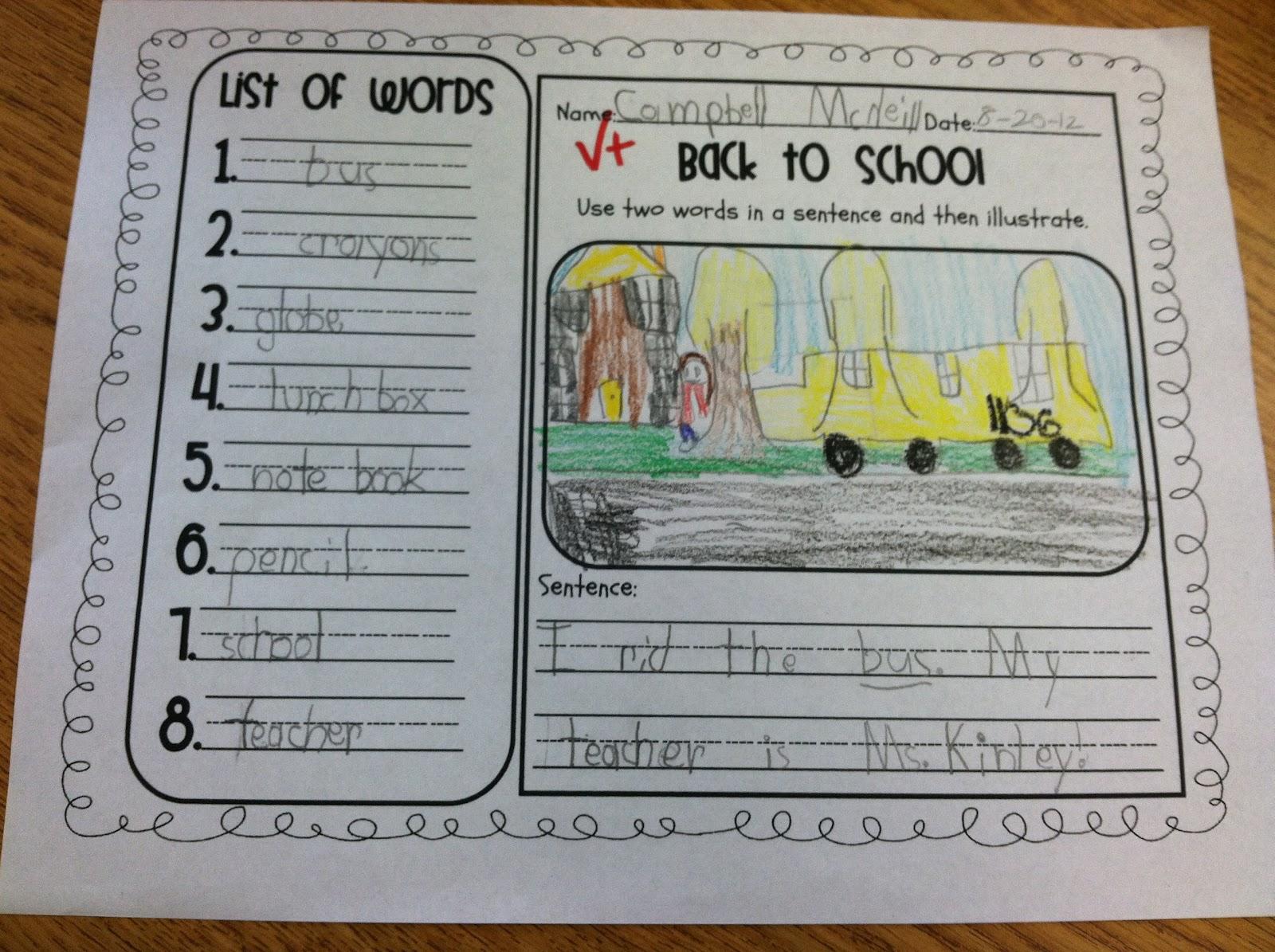 First Grade Fabulous Fish Teacher Week