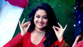Keerthy Suresh in Red Dress with Cute and Lovely Smile