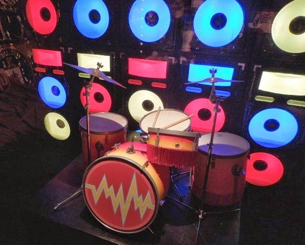 Animal's drum set Muppets Most Wanted props