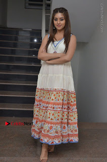 Telugu Actress Anu Emmanuel New Stills in Beautiful White Long Dress  0095.JPG