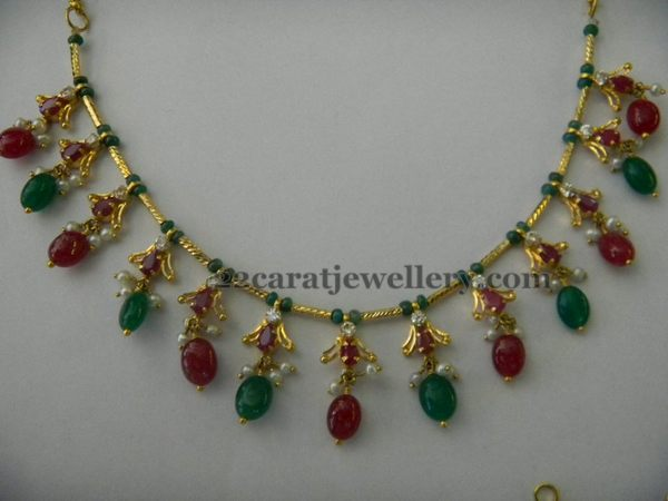Drops Necklace Only 14 Gms Jewellery Designs