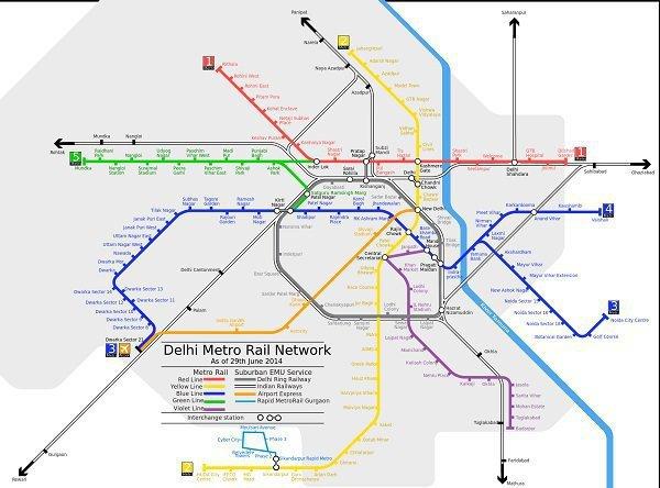 Metro Map, delhi metro route