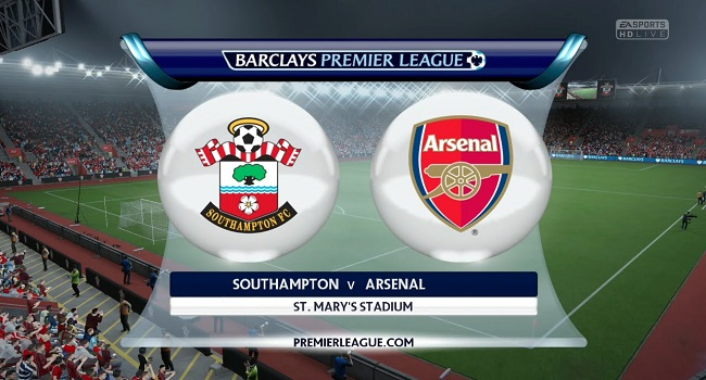 live streaming southampton vs arsenal 10 desember 2017