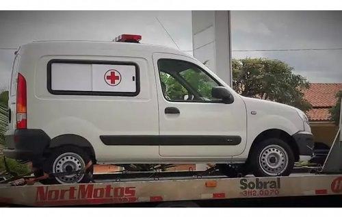ladrões roubam ambulância
