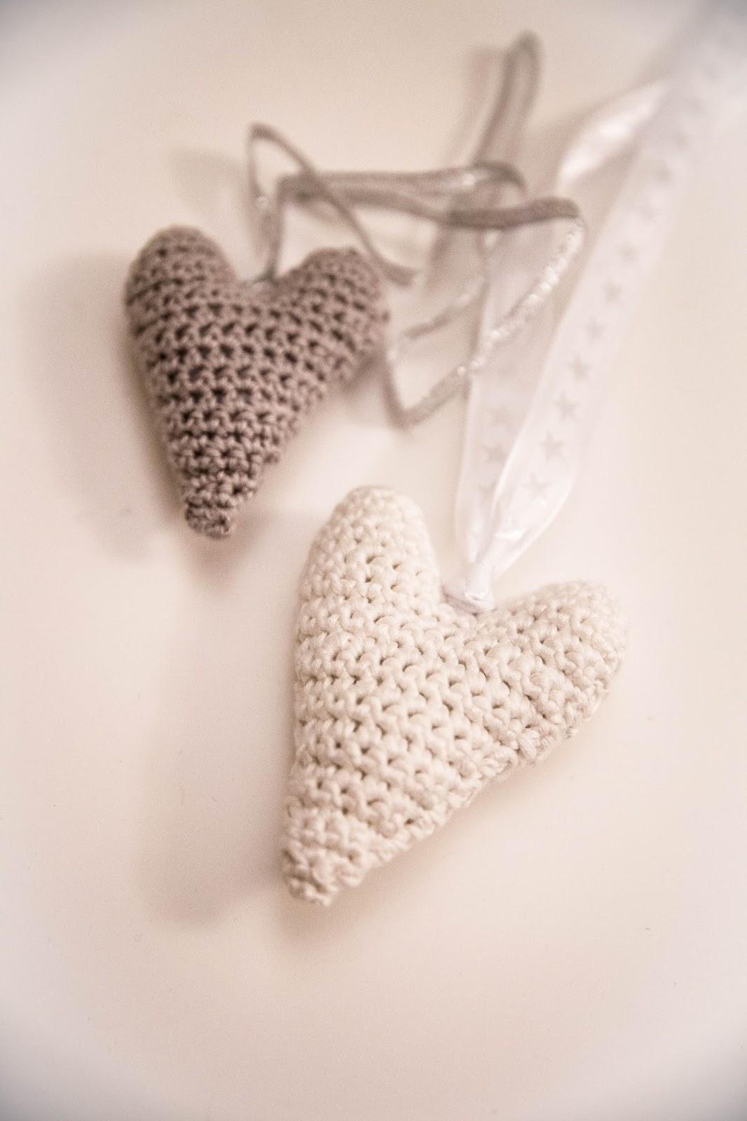 käsityöblogien joulukalenteri virkattu sydän