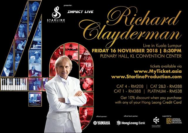 Richard Clayderman, Malaysia, 40th Anniversary Concert