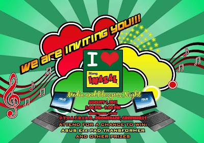 I <3 Mang Inasal Media and Bloggers Night Invitation