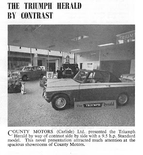 County Motors showroom view 1959: Extract from STR Volume 10 October 1959
