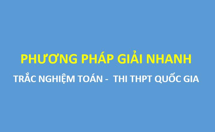 PDF Phương pháp tư duy giải nhanh trắc nghiệm toán - Nguyễn Bá Tuấn