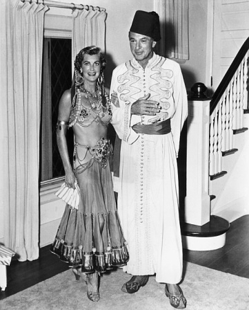 Fay Wray And Gary Cooper At A Costume Party In 1931