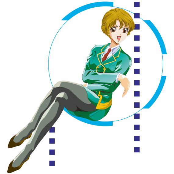 Azafata anime - Vector