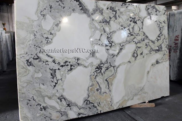 Caribbean island white Marble slab