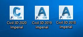Civil 3D Logos for 2018, 2019, 2020