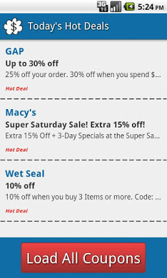 Black Friday coupons deals app