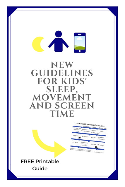 screen time recommendations chart