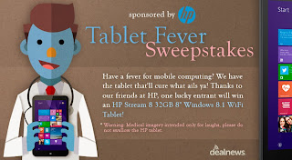 Enter to Win: Tablet Fever HP Tablet Sweepstakes