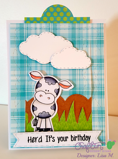 This is a picture of a Birthday Card to gift cash featuring a cow and Moo-lah sentiment.