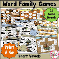 Word Family Games Short Vowels