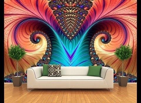40 Stylish 3D wallpaper for living room walls, 3D wall murals