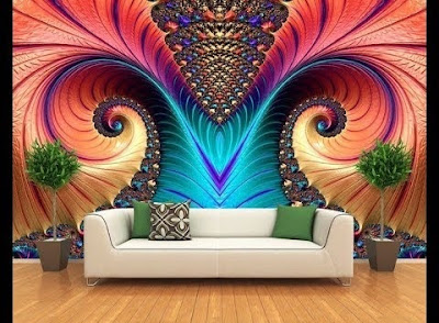 3D wallpaper for living room walls 3D wall art ideas