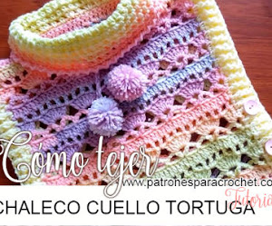 Chaleco Crochet con Cuello Tortuga / Tutorial en Español