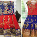 Grand Red and Blue Lehenga