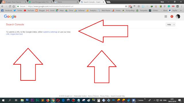 Kotak submit URL sudah tidak ada lagi, alias di HILANGkan.