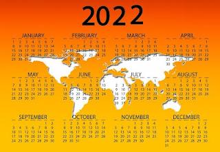 Happy New Year 2022 Calendar