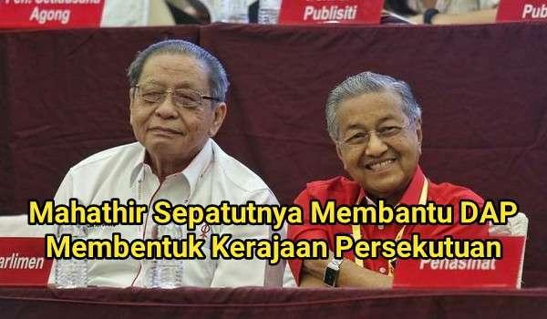 Sentuhan Kecundang DAP,  Perkudakan Mahathir Untuk Menawan Putrajaya