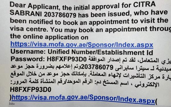 lembaran peraturan baru visa uae