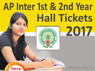 Manabadi AP Inter 1st 2nd Year Hall Ticket 2017