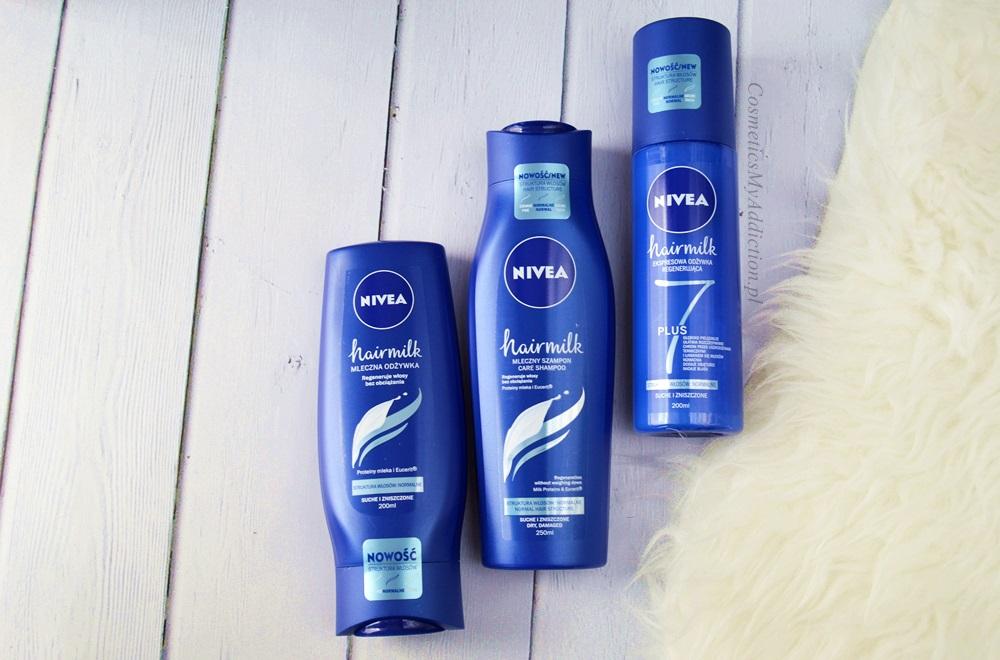 Nivea - hairmilk szampon, odżywka i ekspresowa odżywka