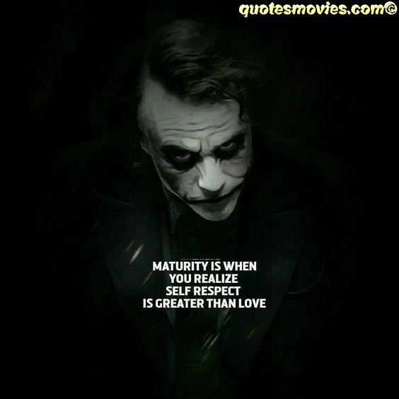 self respect joker quote