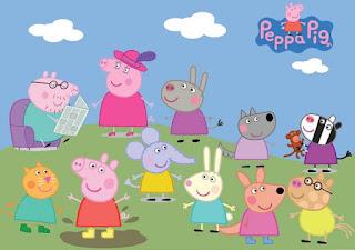 vestido Peppa Pig infantil tema festa aniversario - Tia Gina.
