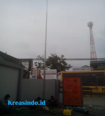 Tiang Bendera Stainless pesanan Gedung Inspektorat Cimahi
