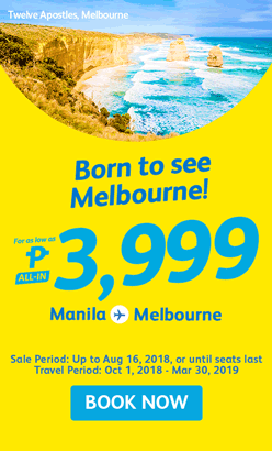 Manila to Melbourne Seat Sale Promo
